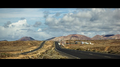 Desertic Lanzarote (AKfoto.fr) Tags: road film station gaz lanzarote oil petrol