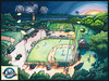 Highland Park (Emily L. Taylor) Tags: art watercolor painting baseball commissions