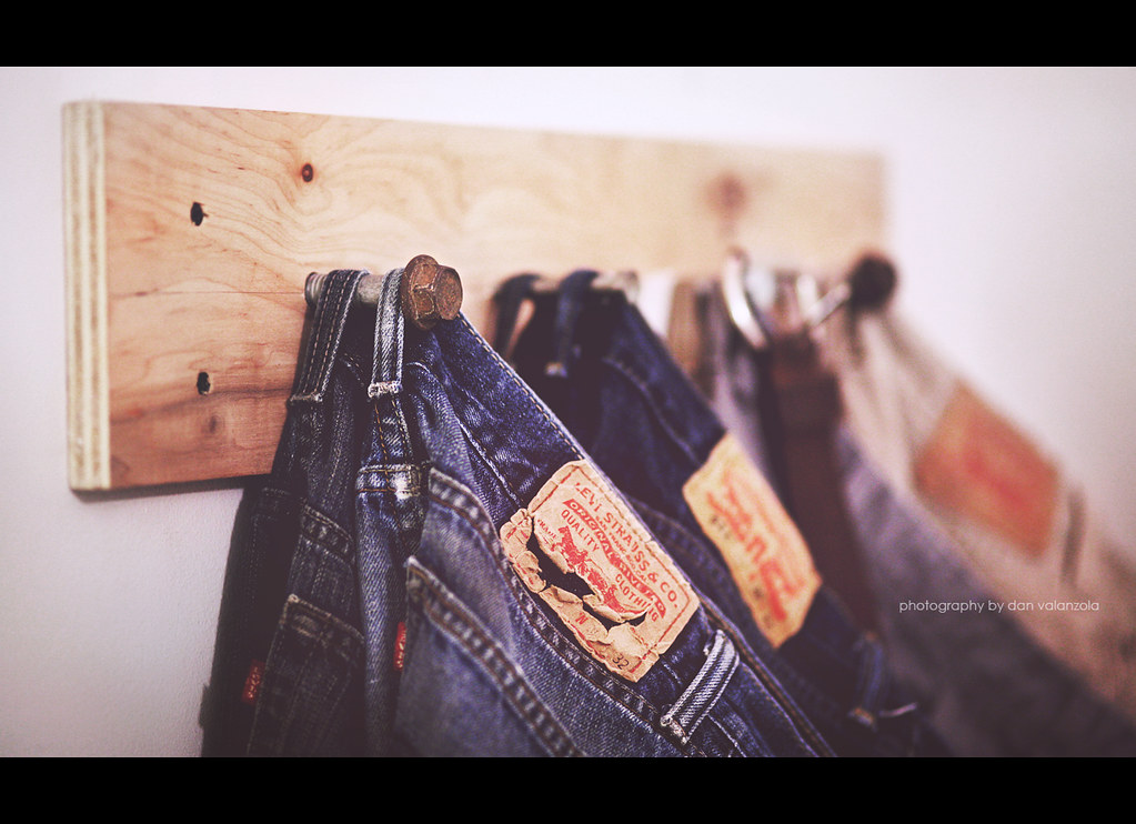 62e3418a Indoor Project - Pant rack (Dan Valanzola) Tags: old pants jeans rack worn