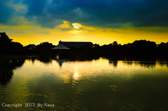 A Simple Reflection  ( Nana) Tags: light sunset sky cloud sun reflection natural taiwan