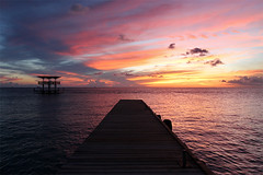 Curaao Sunset (russ david) Tags: ocean sunset sea netherlands island dock december hilton southern caribbean curaao 2012 antilles