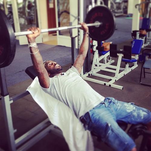 Back at the gym #fitness #hodgetwins #kinshasa #rdc