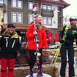 India Sherret of BC wins Gold and Sarah Lepine also from BC takes Bronze at the first Ski Cross Nor Am of the season at Copper Mountain, Colorado PHOTO CREDIT: BC Ski Cross