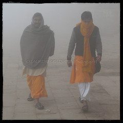 The Morning Mist (designldg) Tags: morning winter people india mist man fog square dawn colours atmosphere happiness varanasi kashi benares benaras uttarpradesh भारत indiasong prayagghat panasonicdmcfz18