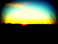 Oxford (Beyonder) Tags: sunset shadow blur pylon saturation bloom fade lomoish boost warmify soften holgaish ortonish