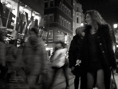 smoking woman (Le Xuan-Cung) Tags: people urban blackandwhite bw blur germany happy lightsandshadows nikon mood noiretblanc dream citylife streetshots streetphotography atmosphere streetlife streetscene nb sidewalk nrw sw dortmund bigcity lateafternoon urbanshots smokingwoman livingingermany lightsanddarks characterstudies nikoncoolpixs52 livingindortmund urbandortmund livinginnrw