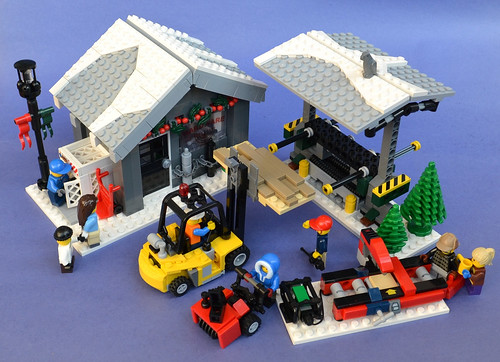 Winter Village Lumber Yard