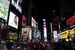 Times Square, New York (adrian_kool) Tags: intersection midtown timessquare billboard us unitedstates nightlife city manhattan color colour crowd lights light advertising advertisement commercial nikon new york 18105mm night nyc