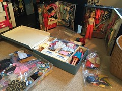 Trying to Organize (Foxy Belle) Tags: collection doll barbie mod vintage skipper cases vinyl organization
