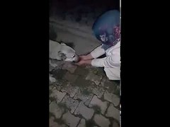 Dog thanks a girl after she helped him to drink water by her hands! (contfeed) Tags: duration views thank dogs animal funny pup rescuer water pets
