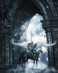Carpe Diem et Carpe Noctem (Bel's World) Tags: daz 3dmodeling knight angel angelic spiritual warfare struggle virtue courage medieval