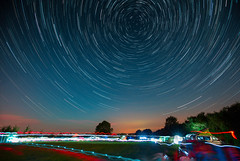 Campsite Startrail (Tim Burgess : Perfexeon) Tags: night sky star trail circle huffington oxen oxfordshire uk camping longexposure stacked startrail