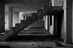 al punto di partenza - back to the start point (francesco melchionda) Tags: cavtat blackwhite urbex urbanexploration abandoned decay decadence stairs