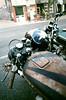 Star and Stripes (Georgie_grrl) Tags: modsandrockers2016 motorcycles scooters chrome social community friends bikes bikers riders scooterists pentaxk1000 rikenon12828mm ossingtonavenue star helmet stripes rustification tank motorcycle