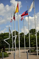 Flags and greetings (holdit.) Tags: tx texas visitorcenter swamp nature natural