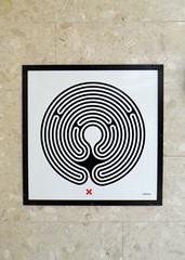 Labyrinth 120/270 (R~P~M) Tags: wimbledon wallinger labyrinth art enamel vitreousenamel londonunderground station districtline london england uk unitedkingdom greatbritain