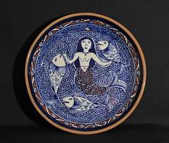 Mermaid Plate Tzintzuntzan Mexico (Teyacapan) Tags: sirena mermaids fish plate ceramica pottery michoacan chichipan tzintzuntzan mexico mexican folkart crafts