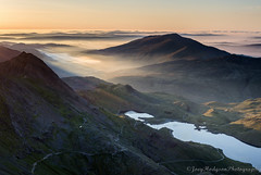 Snowdon Sunrise (Joey Hodgson *lost everything, now re-uploading*) Tags: wildcamping sunrise mist golden mountains wales north sony camping snowdonia snowdon joeyhodgsonphotography landscape landscapephotography photography welsh