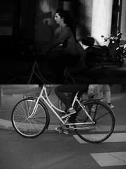 [La Mia Citt][Pedala] (Urca) Tags: milano italia 2016 bicicletta pedalare ciclista ritrattostradale portrait dittico nikondigitale mir bike bicycle biancoenero blackandwhite bn bw 881150