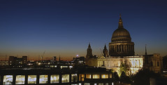 St Pauls at night (steven.kemp) Tags: st pauls cathedral cannon street london city skyline building night scene landscape urban architecture