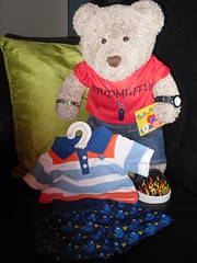 Holibobs are comin'! (pefkosmad) Tags: ted teddy bear tedricstudmuffin toy stuffed soft plush fluffy cute clothes holibob holiday vacation vacances trip shopping togs shirt shorts new babw loyaltycard buildabear buildabearworkshop