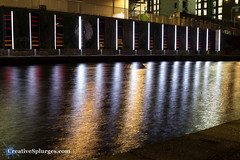 TARS, Reflected (Cousin Dirk) Tags: lumierelondon london lumierefestival light festivaloflight kingscross colour night londonatnight water longexposure reflection tars