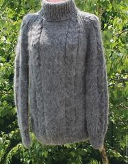 Rusalionka Turtleneck mohair design (Mytwist) Tags: sweater wool knitted warm mens womens handmade unisex mohair style fashion webfound mytwist handgestrickt handknitted handknit craft ebay fuzzy cozy turtleneck rollneck
