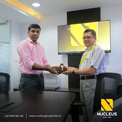 Key to a beautiful beginning ......  We are extremely happy to hand over the key to Mr. Prathyush Kumar (Breeze 4C).   May the new home  be filled with joy and cheer.  #Kerala #Kochi #India #House #Architecture #Home #Constr (nucleusproperties) Tags: life beautiful house kochi elegant style kerala realestate lifestyle india luxury villa comfort apartment nature architecture interior gorgeous design elegance environment beauty building exquisite view city construction atmosphere home living