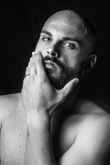 Synthesis 2  //Series (Fernando Lpez Cabaero) Tags: portrait retrato blackandwhite nikon flash fotografia portraiture portraits oldportrait serie mano expresion cara ojos ojo barba