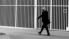 The bald man (pascalcolin1) Tags: paris13 man homme bald chauve costume grilles photoderue streetview urbanarte noiretblanc blackandwhite photopascalcolin