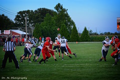 Passing to a spot (Dr. M.) Tags: football people athletes ball nikon d7000 sport fall