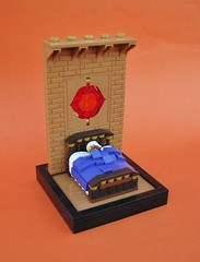 The Dream (gid617) Tags: lego dream bed stained glass purple covers