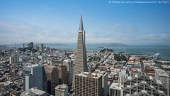 Sunny San Francisco (DSC05510) (Michael.Lee.Pics.NYC) Tags: sanfrancisco loewsregency transamericapyramid aerial coittower alcatraz telegraphhill financialdistrict cruiseship jameshermancruiseterminal pier27 bay angelisland sony a7rm2 zeissloxia21mmf28