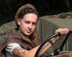 jeep boy (laughingrasputin) Tags: militaryodyssey detling kentshowground reenactors jeepboy
