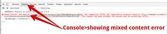 insecure content warning in console (bionicteaching) Tags: chrome inspect elements http https insecure warning