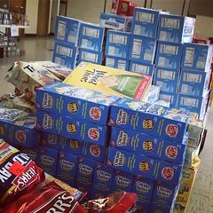 Stack of Crackers (Karol A Olson) Tags: foodpantry volunteering food donations generosity crackers snacks stacks boxes sep16