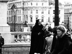 It's time (Bebadawn) Tags: grim reaper death blackwhite building people skull scythe
