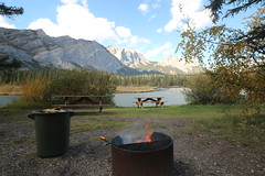 An evening campfire a great way to spend the day (davebloggs007) Tags: bow vally camp fire alberta canada yumnuska mountain 2016