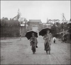 A Rainy Day (ookami_dou) Tags: vintage japan  yokohama  rain umbrella