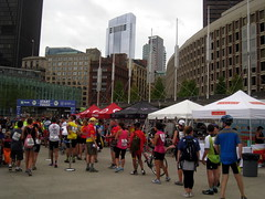 Hub on Wheels, Boston MA (Boston Runner) Tags: hubonwheels biking cycling boston ride 40miles event massachusetts 2016 cityhallplaza line waiting cylist boloco burrito skyline