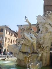 Bernini's Fontana dei Quattro Fiumi or Fountain of the Four Rivers  g (litlesam1) Tags: italy rome soloromejuly2016 july2016 fountains