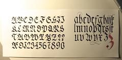 Fraktur 1 (xelo garrigs) Tags: letters alphabet calligraphy fraktur blackletter letras caligrafa gtica calligrafia