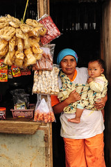 Ibu Warung (syukaery) Tags: people woman baby shop female indonesia 50mm store nikon westjava sukabumi humaninterest citalahab halimun vendore d700 bedeng