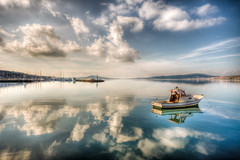 Ayvalk, Turkey (Nejdet Duzen) Tags: travel sea cloud holiday reflection turkey boat cloudy trkiye deniz sandal bulut tatil yansma turkei seyahat ayvalk mirrorefect mygearandme besteverdigitalphotography besteverexcellencegallery