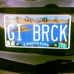 Too bad Oregon needs a space on the License Plate! (GI Brick) Tags: lake oregon square plate crater squareformat license lordkelvin brickarms iphoneography instagramapp uploaded:by=instagram gibrick