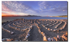 The path into the peaceful gate, San Francisco, CA (james wang photography - wangjam) Tags: ocean sanfrancisco bridge point gold gate eagle trail end lands california94121sutrobathphotography sanfranciscoeaglepointlabyrinthlandsendtrail laydrinth