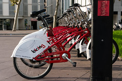 Bicing view (MatteoC83) Tags: red bike barcellona spagna catalogna bicing