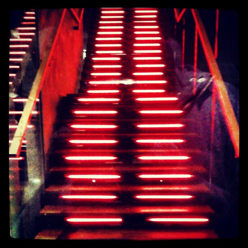 Red Stairs #red #neon #lights #stairs #London #Pimlico #SW1