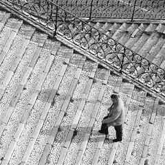 Up (TheManWhoPlantedTrees) Tags: bw up lines metal stairs lisboa steps disney human walker pixar 100views cinematic bsquare quadratum nikond3100 tmwpt