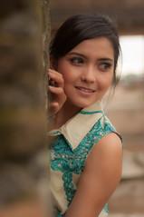 Smile... (KEnd Photoworks) Tags: portrait people fashion indonesia nikon pretty exotic yogyakarta prettygirl 50mm18 d90 indonesiangirl tamansariwatercastle